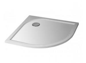 STONE 9090R S - sprchová vanička štvrťkruhová - stredový odpad