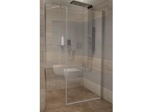 GAMA 140×190 cm číre Well sprchové dvere do niky