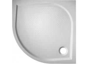 SOFIA 90 × 90 R50 Hopa vanička sprchová mramorová, výška 3 cm