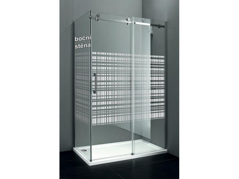 DRAGON GD7990SL Gelco Bočná stena sprchová - sklo Canvas, ľavá