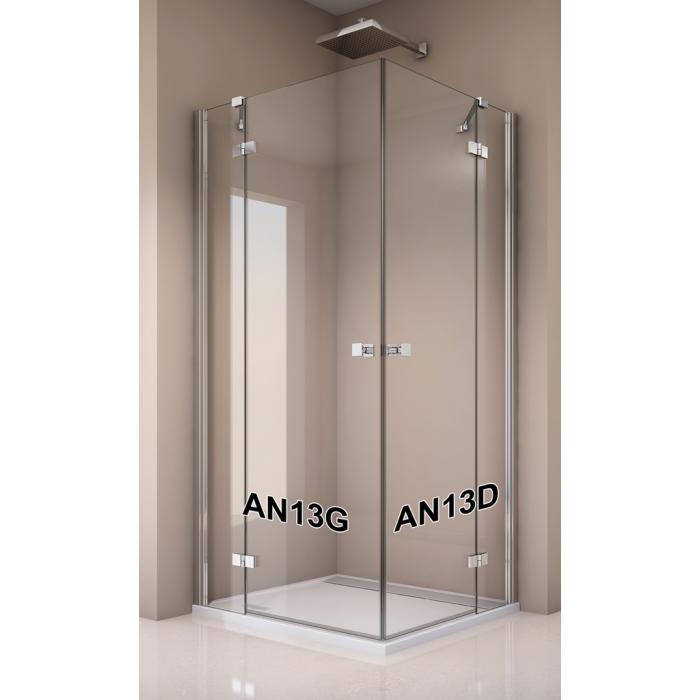AN13 G 1200 50 07 SanSwiss Jednokrídlové dvere 120 cm s pevnou stenou v rovine, ľavé