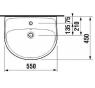 JIKA LYRA PLUS H8143820001041 Umývadlo 55 × 45 cm s otvorom