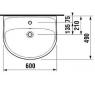 JIKA LYRA PLUS H8143830001041 Umývadlo 60 × 49 cm s otvorom