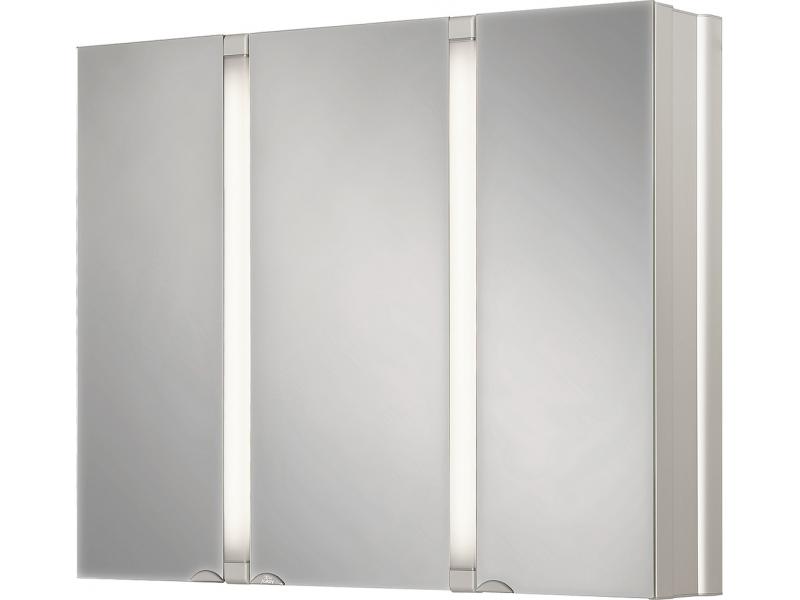 SUNALU Zrkadlová skrinka - aluminium