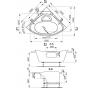 ATHÉNA 150 × 150 Vagnerplast Vaňa rohová s podporou