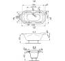 GAIA 190×100 Vagnerplast Vaňa oválna s podporou