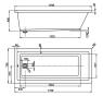 CAVALLO 170 × 75 Vagnerplast Vaňa obdĺžniková s podporou