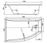 VERONELA 160×105 L Vagnerplast Vaňa asymetrická s podporou