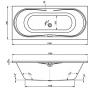 Briana 170 × 75 Vagnerplast Vaňa obdĺžniková s podporou