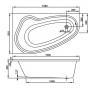 Avon 150 × 90 L Vagnerplast Vaňa asymetrická s podporou