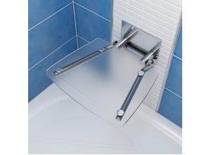 RAVAK OVO B CLEAR Sprchové sedadlo hranaté