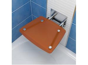 RAVAK OVO B ORANGE Sprchové sedadlo hranaté