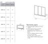 AVDP3-150 TRANSPARENT Vaňová zástena trojdielna 150 cm biela