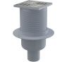 APV2 Podlahová vpusť nerezová priama 105 × 105/50