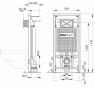 A101/1200 + M70 Sádromodul Alcaplast kompletný inštalačný set