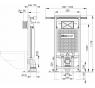A102 + M70 Jádromodul Alcaplast kompletný inštalačný set