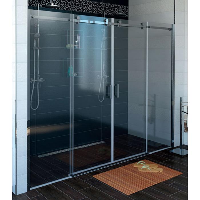 DRAGON GD4870 Sprchové dvere štvordielne posuvné - sklo číre