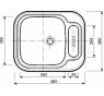 528 MONO PLUS Norma Drez nerezový š. 560 mm, hl. 480 mm