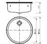 526-UT Norma Drez nerezový kruhový pr. 400 mm