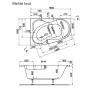 Melité 160 × 105 L Vagnerplast Vaňa asymetrická s podporou