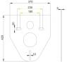M910 ALCAPLAST Izolačná doska pre závesné WC a bidet s príslušenstvom a krytkou