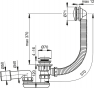 A504KM AlcaPlast Vanový odtokový komplet click clack kov chrom