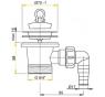 A33P ALCAPLAST Drezová výpusť 6/4˝ s nerezovou mriežkou pr. 70 mm a prípojkou
