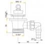 A31P ALCAPLAST Umývadlová výpusť 6 / 4˝ s nerezovou mriežkou pr. 63 mm a prípojkou