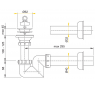 A413 Sifón pre umývadlo priestorovo úsporný pr. 63 mm