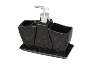SET - BLACK Arttec Sada kúpeľňových doplnkov