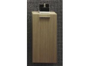 T 580 Biela lesk Hopa kúpeľňová skrinka bočná
