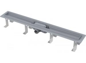 APZ9 ALCAPLAST Líniový podlahový žľab plastový s nerez roštom