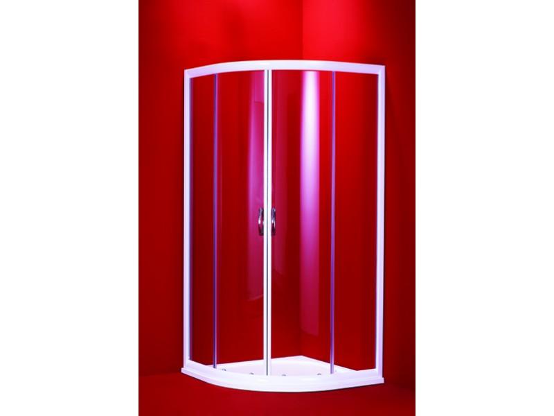 BARCELONA 90 mramorová vanička číre sklo biely rám Hopa sprchovací kút