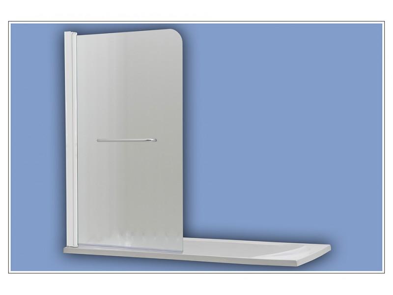 508 white chinchila Arttec vaňová zástena jednodielna s madlom