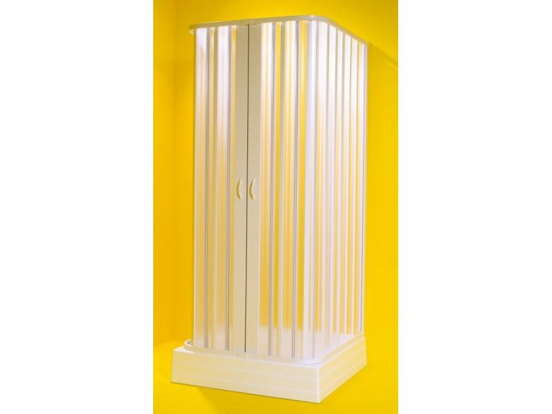 SATURNO 100-80 × 100-80 × 100-80 × 185 cm Olsen-Spa sprchová zástena