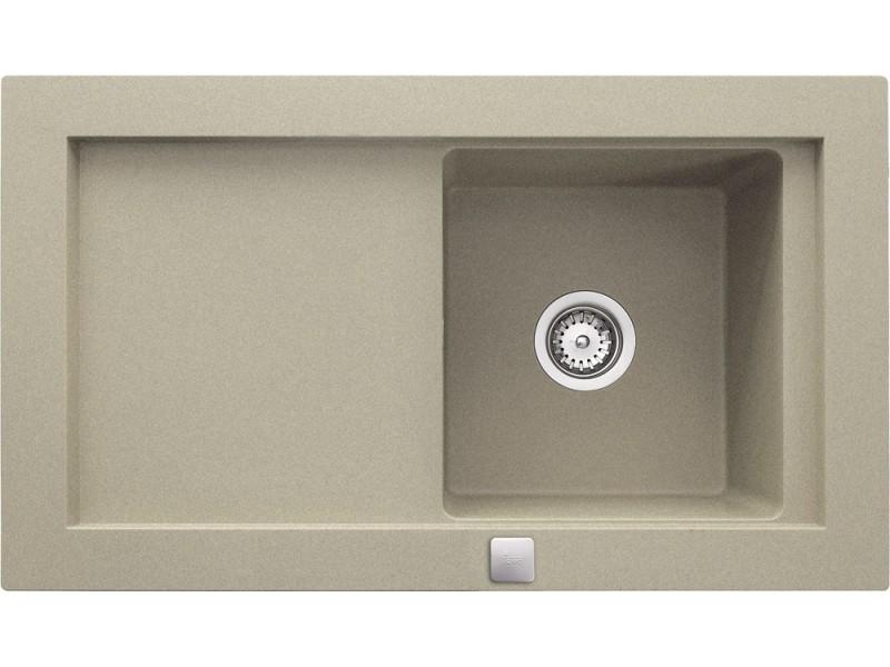 AURA 45 B-TG 920x525 TEKA hliníkovo šedá drez granit