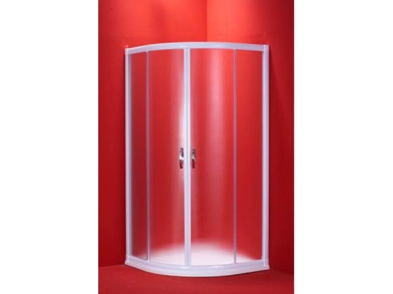 BARCELONA 90 mramorová vanička mat sklo biely rám Hopa sprchovací kút