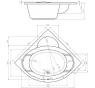 FORLI 150 x 150 Hopa akrylátová rohová vana