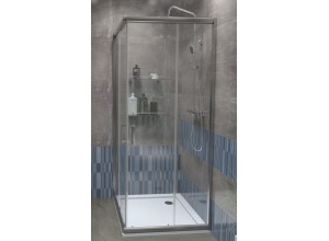 FUNY Q 90 Clear ROCKY Well Sprchovací kút s vaničkou