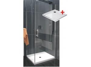 ALFA ROCKY 90 x 90 cm Clear Well Luxusná štvorcová sprchová zástena
