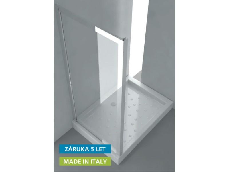 ANTA FISSA S Hopa Pevná sklenená zástena, 68 - 74 × 190 (v) cm, leštený hliník, číre sklo
