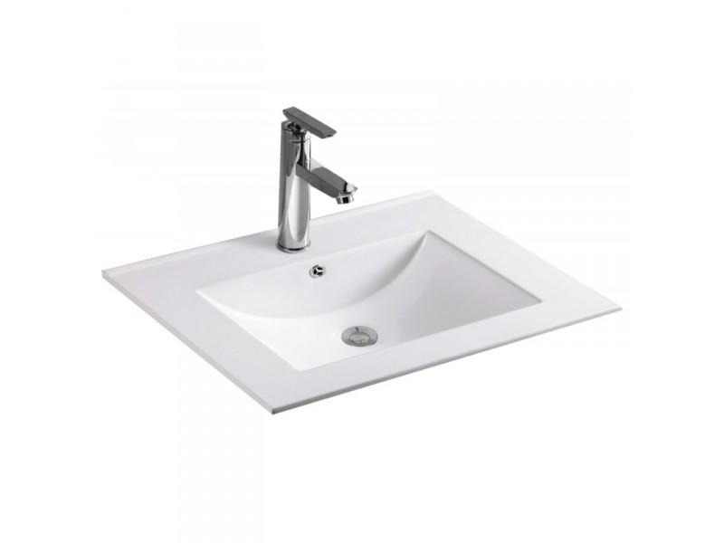 ANETA Well umývadlo zapustené 80 x 46 cm biele