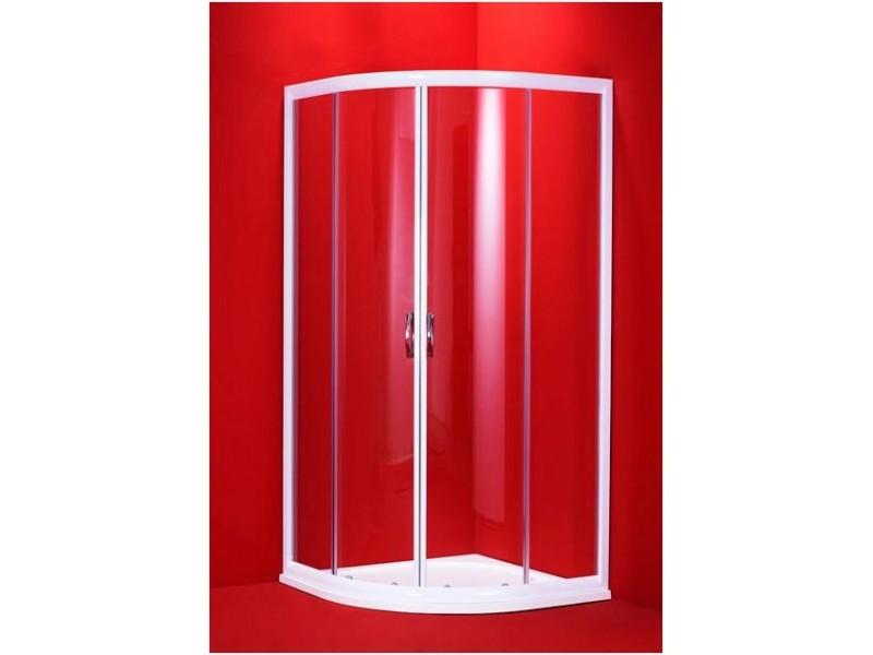 BARCELONA 100 × 100 biely rám číra Olsen-Spa sprchovací kút