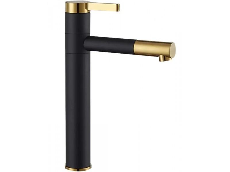 SIMEON black + gold Umývadlová batéria