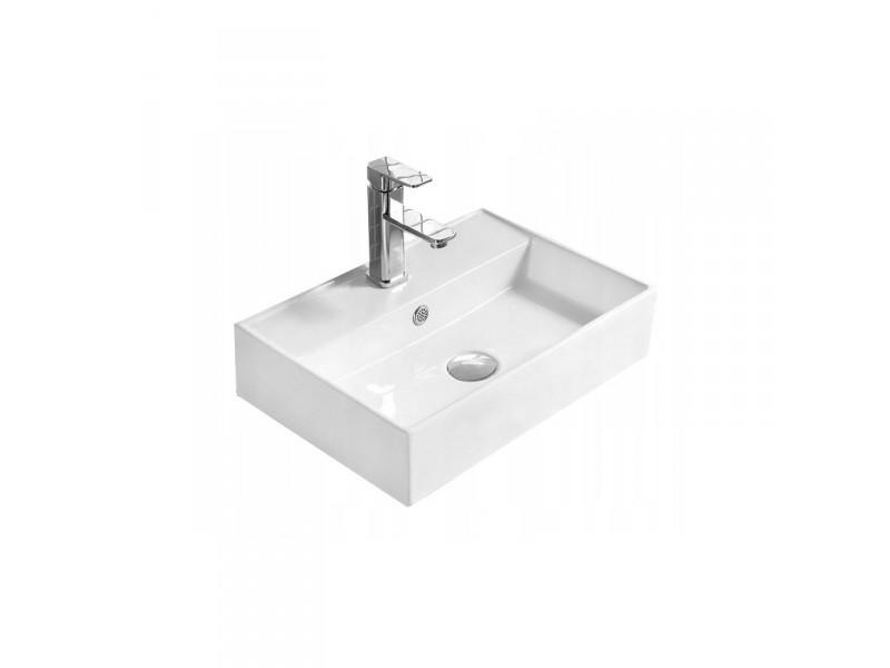 BENITO umývadlo na dosku 56 x 38 cm biele