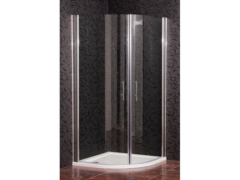 CHESTER 90 Clear MRAMOR Well Sprchový kút s mramorovou vaničkou