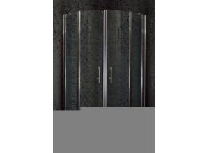 DOVER 90 Clear MRAMOR Sprchový kút čtvrtkruhový s mramorovou vaničkou