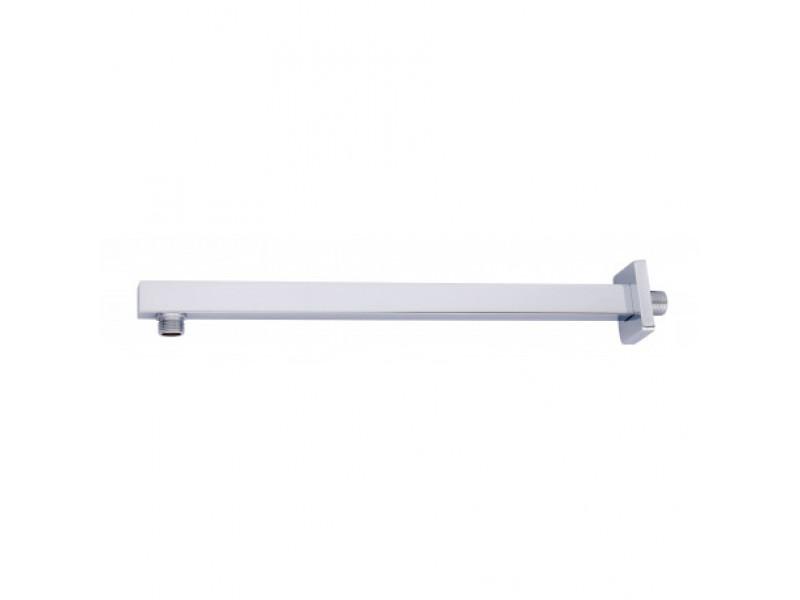 Držiak hlavové sprchy zo steny, hranatý, dĺžka 400 mm