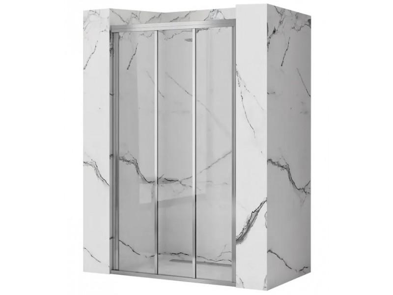 AXEL 111,5-121,5 chróm Well Sprchové dvere trojdielne - posuvné