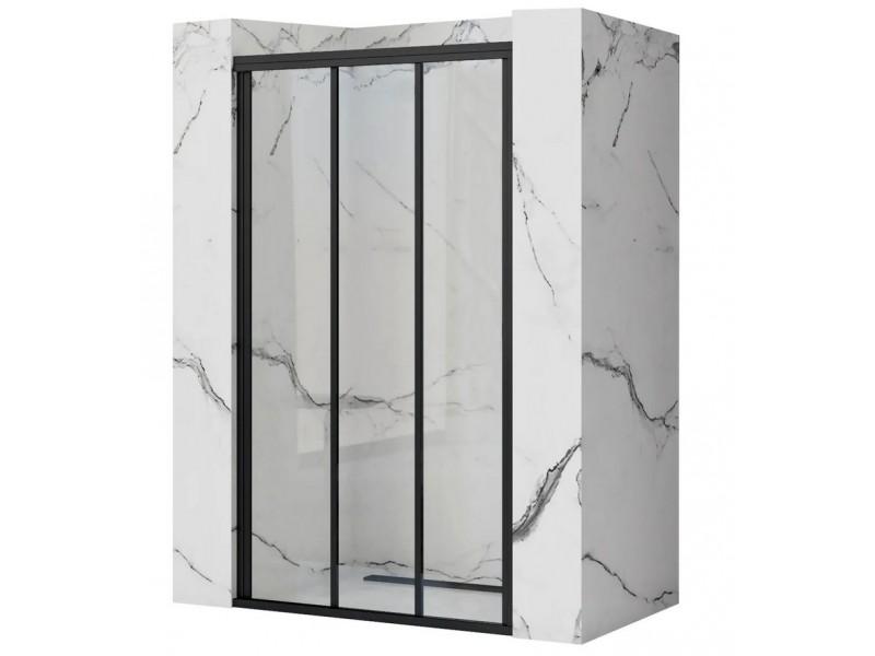 AXEL 90 Black Well Sprchové dvere trojdielne - posuvné